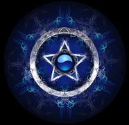 Stock Illustration of mystic blue star