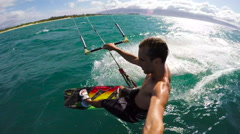 Slow Motion Kite Surfing - stock footage