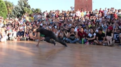 B-girl. Music and Breakdancing party Stock Footage