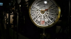 Engine room on Steamboat in Stockholm archipelago - stock footage