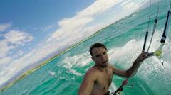 Kitesurfer Back Flip Stock Footage