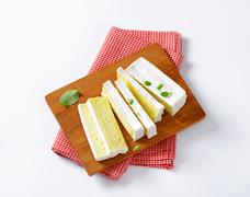 Carré de l'Est - French cow's milk cheese with white rind Stock Photos
