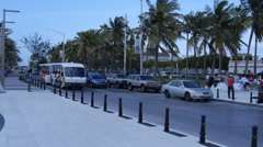 PEOPLE on tourist transport trolley - Old San Juan 2 Stock Footage