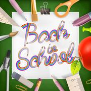 School season invitation template. EPS 10 Stock Illustration
