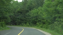 Muskoka Back Road - Fast Driving Stock Footage