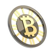 Bitcoin currency symbol coin isolated - stock illustration
