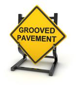 Road sign - grooved pavement - stock illustration