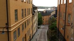 Street in Södermalm Stockholm Sweden Stock Footage