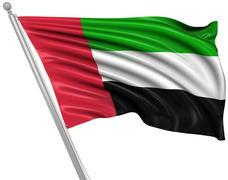 Flag of the United Arab Emirates Stock Illustration