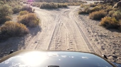 Off Roading In The Desert Stock Footage