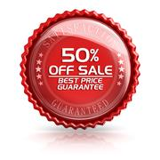 50% Off Sale Stock Illustration