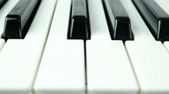 4K Piano Keys Panning - stock footage
