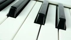 4K Piano Keys Synthesizer Stock Footage