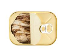 Easy open sardine can with the pull tab Kuvituskuvat