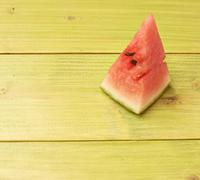 Single piece of watermelon composition - stock photo