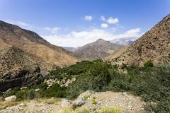 the  atlas mountains in morocco - stock photo