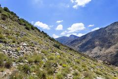 the Atlas montains in Morocco - stock photo