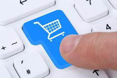 Online shopping buying order internet shop concept Stock Photos