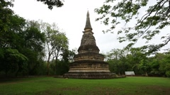 Pagoda at Wat Umong in Chiang Mai, Thailand Stock Footage