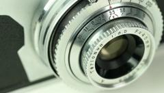 4K Retro Camera Closeup Panning Movement Stock Footage