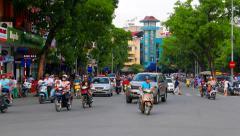 Hanoi old town evening traffic. 4K resolution Stock Footage