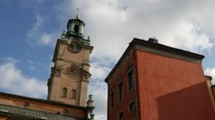 Time lapse from Royal Palace Church in Stockholm Sweden Stock Footage