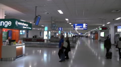 Airport arrival hall Stock Footage