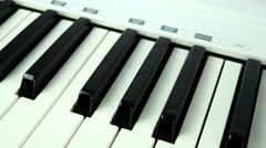 4K Synthesizer Keyboard Piano Panning Stock Footage