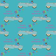 Happy birthday  seamless pattern.  - stock illustration
