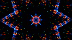 background kaleidoscope abstract star  lights hd - stock footage