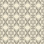 Geometric ornament seamless pattern.  Monochrome design template seamless bac - stock illustration
