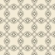 Geometric ornament seamless pattern.   - stock illustration