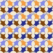 Geometric ornament seamless pattern.   - stock illustration