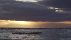Sunset with dark clouds Stock Footage