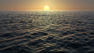 Stock Video Footage of Sunrise Over The Ocean