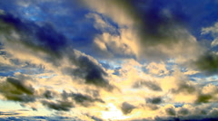 Beautiful sunset clouds - stock footage