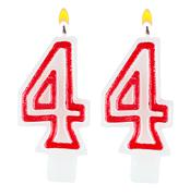 Birthday candles number forty four isolated - stock photo