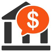 Bank Transfer icon from Business Bicolor Set - stock illustration