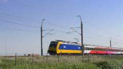 Intercity Direct train passing - stock footage