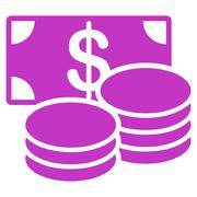 Stock Illustration of Cash icon from Business Bicolor Set