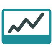 Stock Illustration of Stock Market icon from Business Bicolor Set