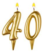 Birthday candles number forty isolated - stock photo