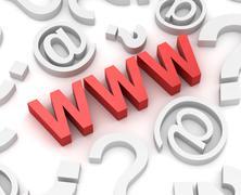 Www internet concept - stock illustration
