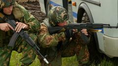 Military training. 4k footage. Stock Footage