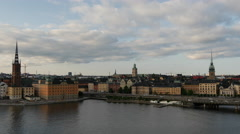 Time lapse from Ridderholmen and Gamla Stan in Stockholm Sweden Stock Footage
