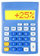 Calculator with 25 - stock photo