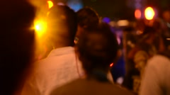 A mob of people at night - stock footage