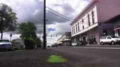 Vintage buildings, Hilo, Hawaii Stock Footage