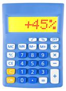 Calculator with 45 - stock photo
