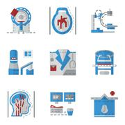 Simple flat color icons for MRI - stock illustration